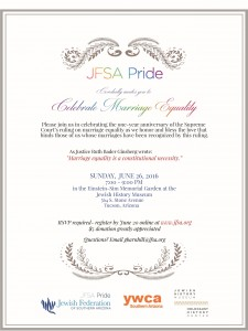 JFSA Pride Celebrating Equality @ Jewish History Museum | Tucson | Arizona | United States
