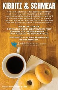 Kibbitz & Schmear Open House - Bagels, Coffee and Friendship! @ Jewish Federation Northwest | Oro Valley | Arizona | United States