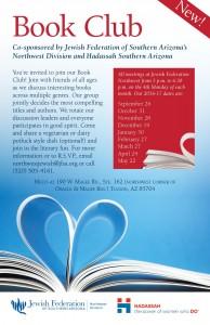 Book Club with friends of Jewish Federation's Northwest Division & Hadassah @ Jewish Federation Northwest | Tucson | Arizona | United States