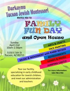 Darkaynu Family Fun Day and Open House @ Darkaynu Tucson Jewish Montessori | Tucson | Arizona | United States