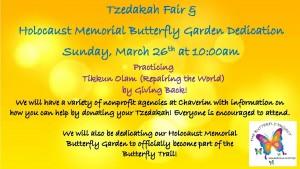 Tzedakah Fair and Holocaust Memorial Butterfly Garden Dedication @ Congregation Chaverim | Tucson | Arizona | United States