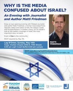 An evening with Journalist and Author Matti Friedman @ Congregation Chofetz Chayim | Tucson | Arizona | United States