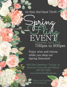 1st Rate 2nd Hand Thrift Spring Fling Event @ 1st Rate 2nd Hand Thrift Store