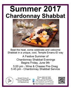 Temple Emanu-El Chardonnay Shabbat @ Temple Emanu-El | Tucson | Arizona | United States