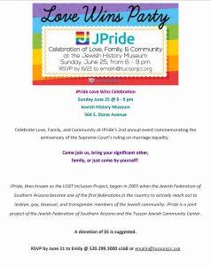 JPride Love Wins Celebration @ Jewish History Museum | Tucson | Arizona | United States