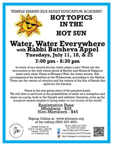 Water, Water, Everywhere - Hot Topics in the Hot Sun @ Temple Emanu-El | Tucson | Arizona | United States