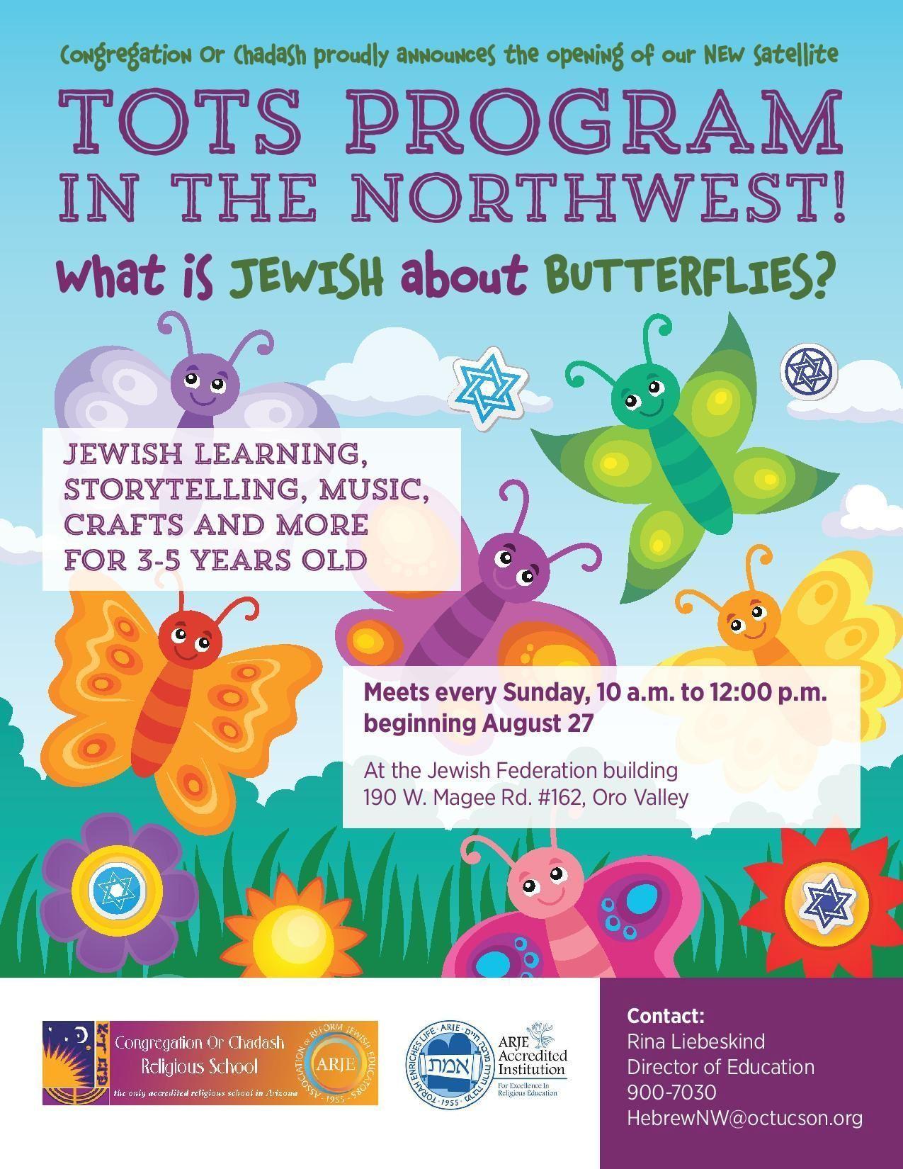 Tots Program in the Northwest by Congregation Or Chadash @ Jewish Federation Northwest | Tucson | Arizona | United States