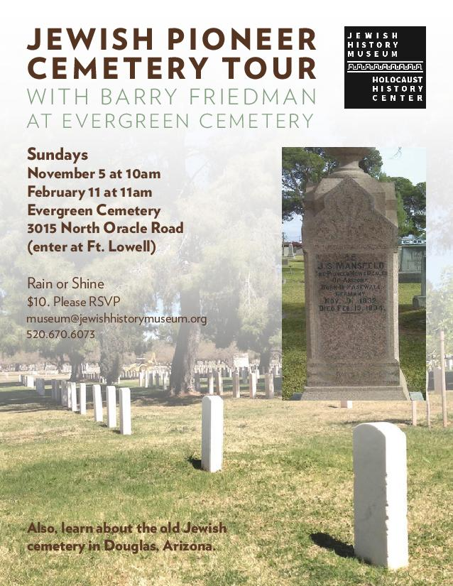 Jewish Pioneer Cemetery Tour @ Evergreen Cemetery (enter at Ft. Lowell) | Tucson | Arizona | United States