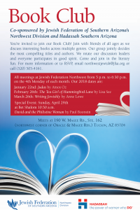 Book Club Meeting @ Northwest Division of the Jewish Federation | Oro Valley | Arizona | United States