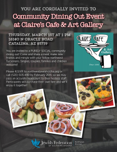 Northwest Community Dining Out @ Claire's Cafe & Art Gallery | Tucson | Arizona | United States