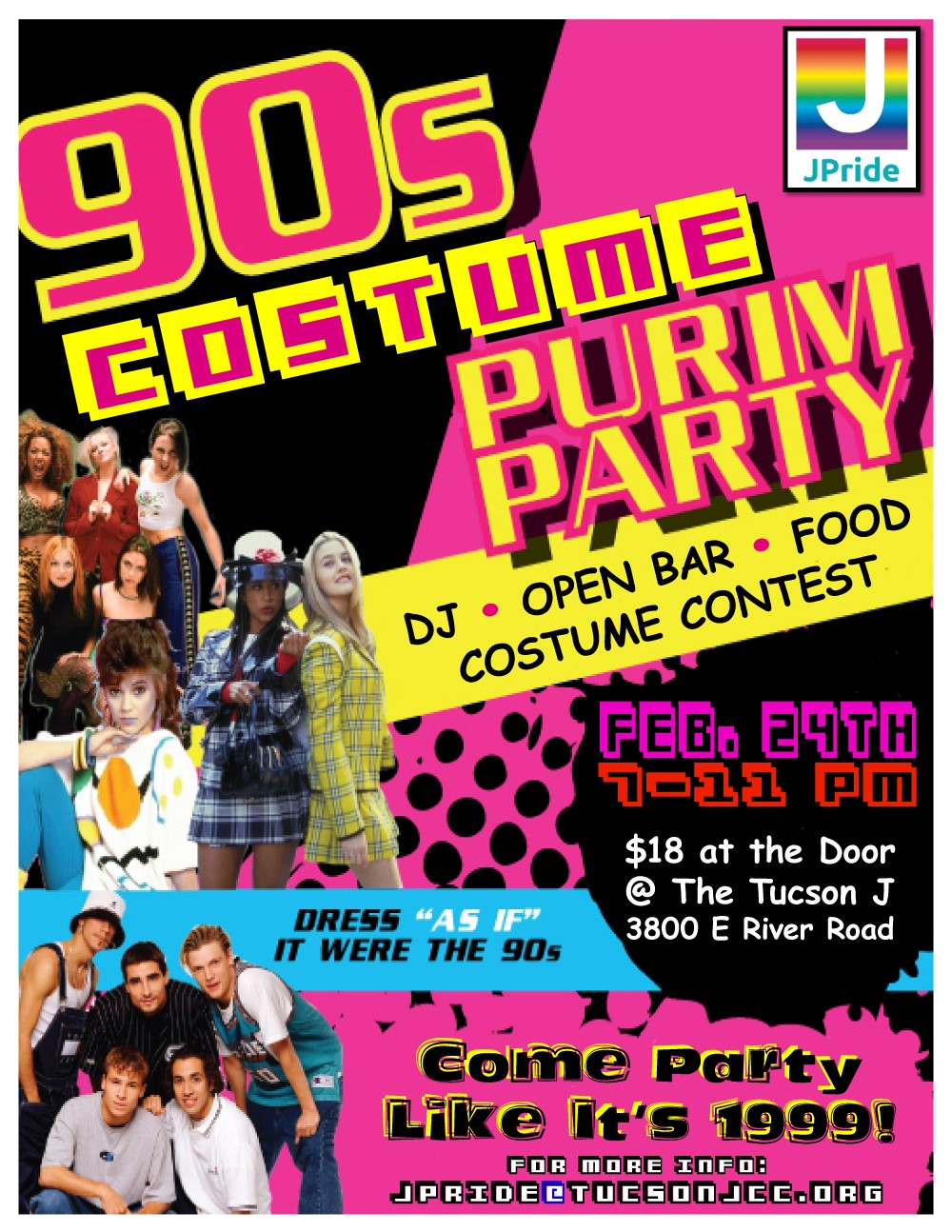 JPRIDE PURIM 90's COSTUME PARTY! @ Tucson J | Tucson | Arizona | United States