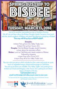 Spring Bus Trip to Bisbee @ Northwest Division of the Jewish Federation | Oro Valley | Arizona | United States