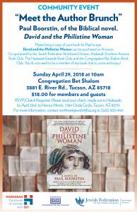 Meet The Author Brunch @ Congregation Bet Shalom | Tucson | Arizona | United States