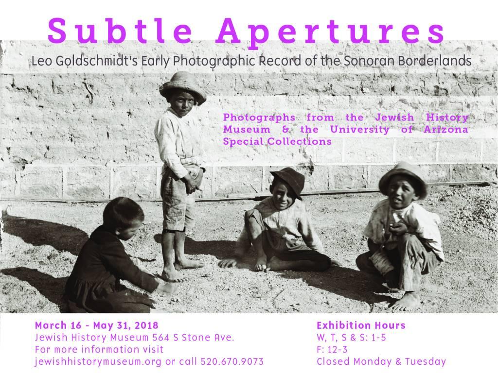 Subtle Apertures Exhibition @ Jewish History Museum | Tucson | Arizona | United States