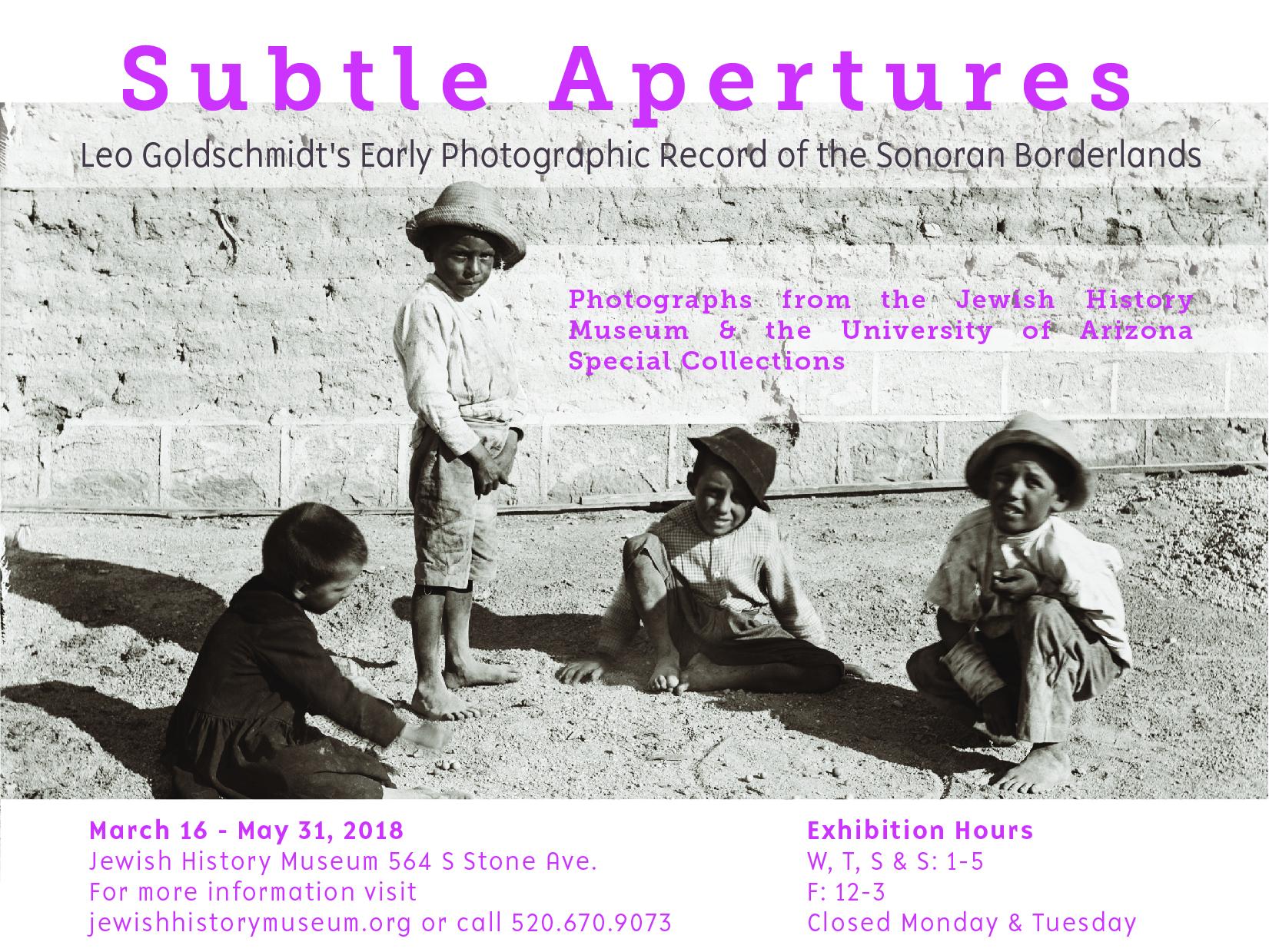 Subtle Apertures @ Jewish History Museum/Holocaust Heritage Center | Tucson | Arizona | United States