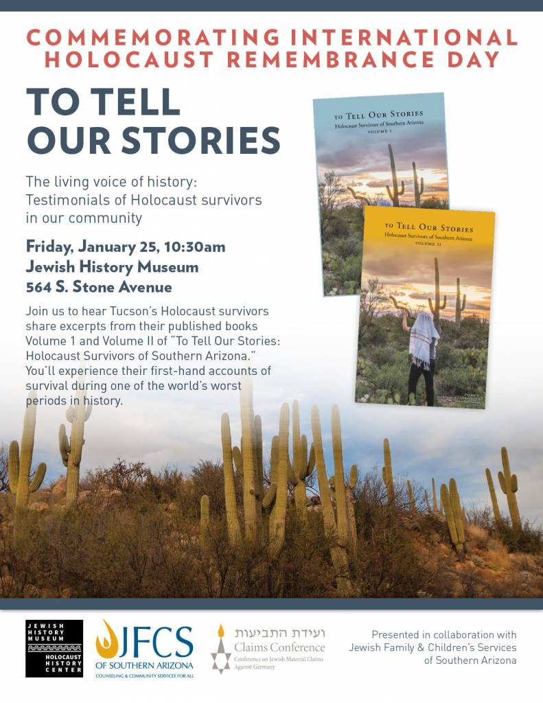 To Tell Our Stories @ Jewish History Museum | Tucson | Arizona | United States