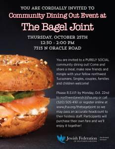 Northwest Community Dining Out @ The Bagel Joint | Tucson | Arizona | United States