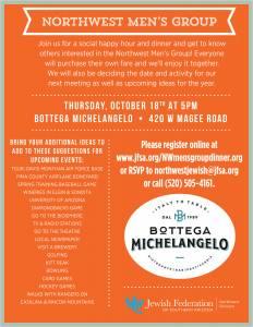 Northwest Men's Group Dinner Out @ Bottega Michelangelo | Tucson | Arizona | United States