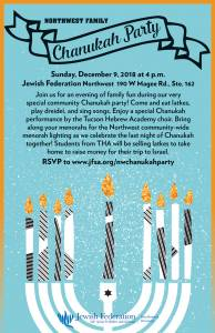 Northwest Family Chanukah Party @ Northwest Division Office | Oro Valley | Arizona | United States