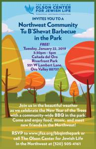 Northwest Community Tu B'Shevat BBQ in the Park @ Canada del Oro Riverfront Park