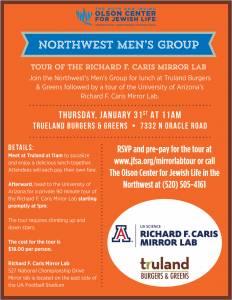 Northwest Men's Group Tour of the Richard F. Caris Mirror Lab @ Richard F. Caris Mirror Lab