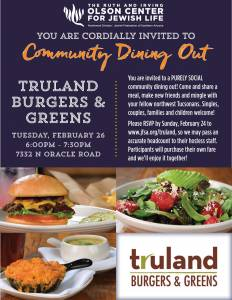 Northwest Community Dining Out at Truland Burgers & Greens @ Truland Burgers & Greens