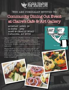 Northwest Community Dining Out at Claire's Cafe & Art Gallery @ Claire's Cafe & Art Gallery