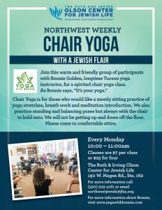 Northwest Weekly Chair Yoga @ The Ruth & Irving Olson Center for Jewish Life