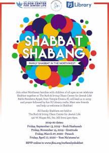 Northwest Family Shabbat Shabang! @ The Ruth & Irving Olson Center for Jewish Life