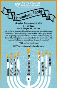 Northwest Chanukah Party @ The Ruth & Irving Olson Center for Jewish Life