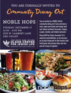 Northwest Community Dining Out @ Noble Hops